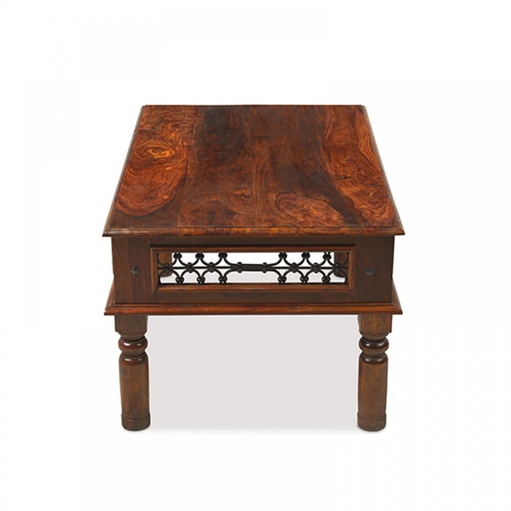 Jodhpur Solid Sheesham Indian Furniture Medium Jali Coffee Table