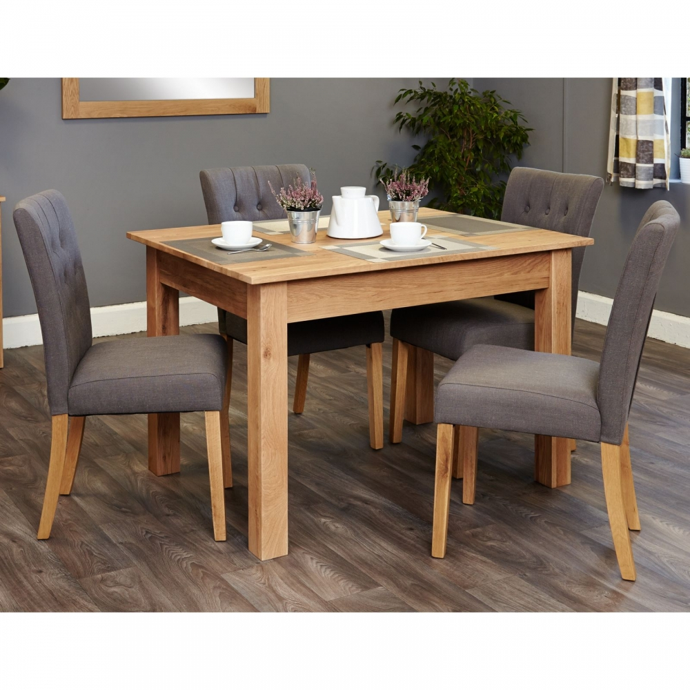 Modern Oak Dining Tables: Mobel Solid Modern Oak Furniture Small Dining Table And
