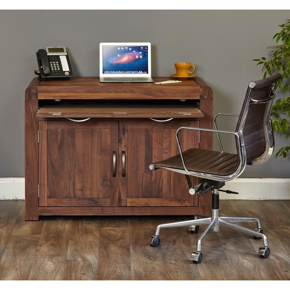 Inca Solid Walnut Furniture Hidden Home Office Computer Pc