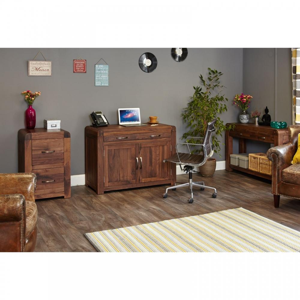 Inca Solid Walnut Furniture Hidden Home Office Computer Pc Hideaway Desk Ebay