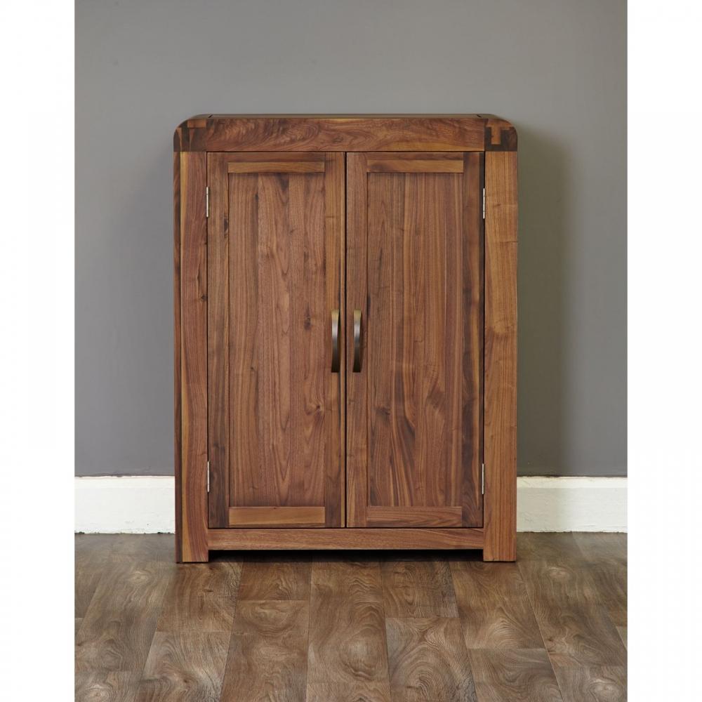 Solid Wood Kitchen Walnut Cabinets: Inca Solid Walnut Dark Wood Furniture Shoe Storage Cabinet