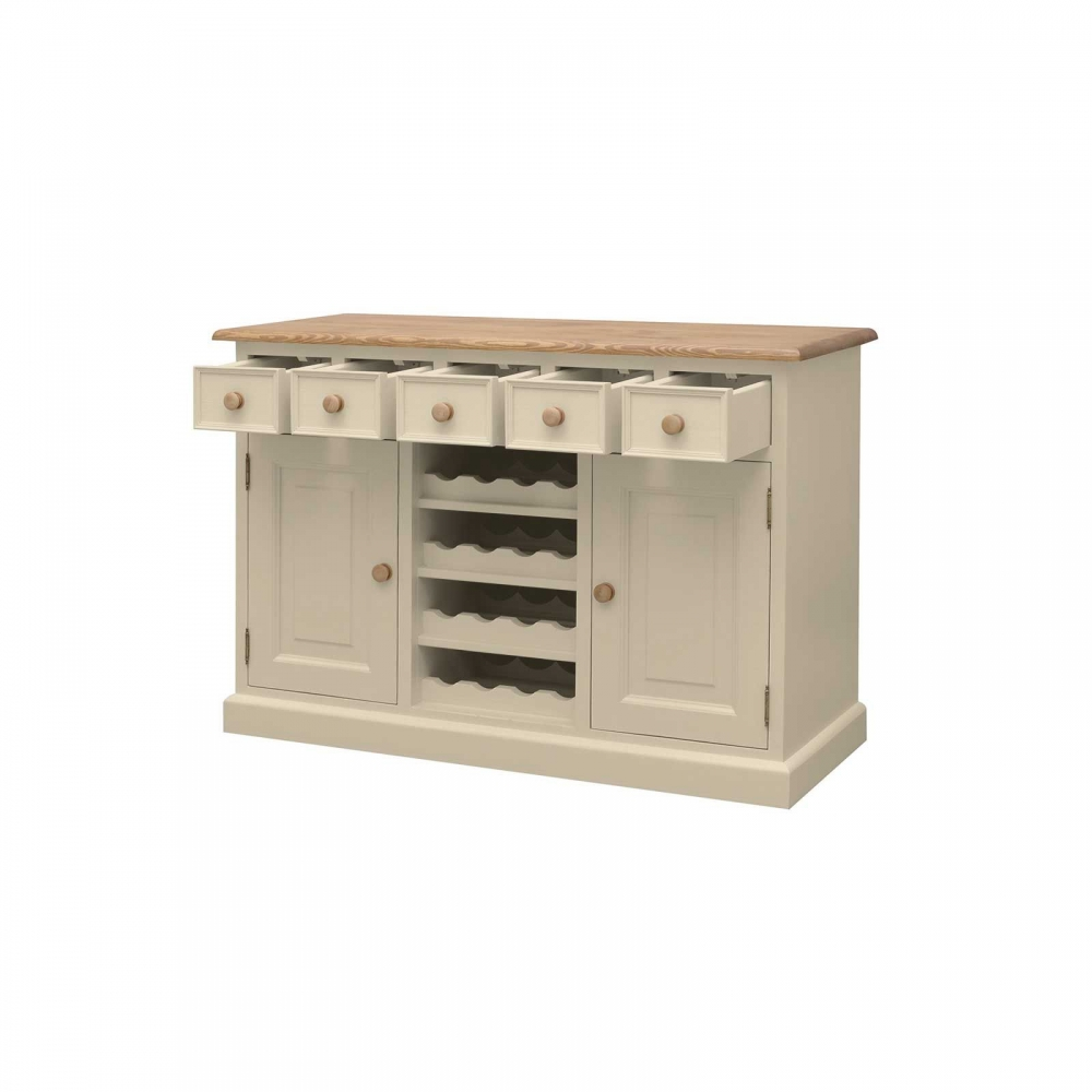 Galway cream painted pine furniture sideboard with wine rack | eBay