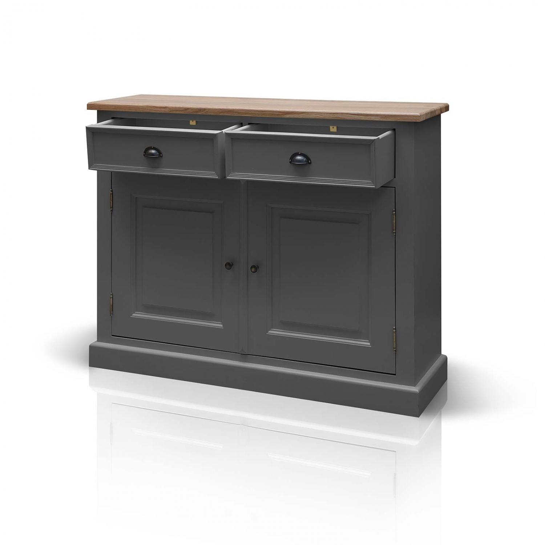 Harrogate Grey Painted Pine Furniture Two Door Two Drawer Cupboard