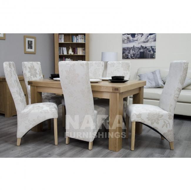Houston Solid Oak Dining Room Furniture 150cm Table