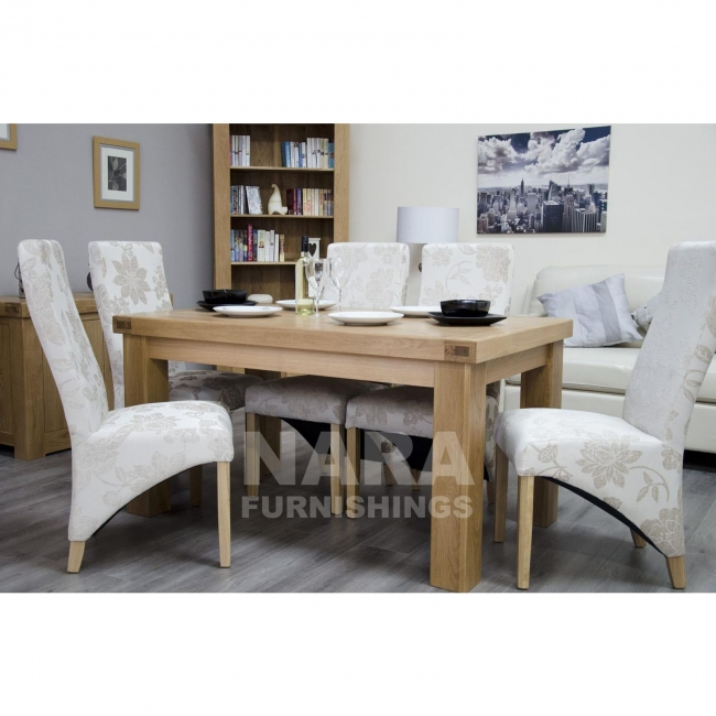 Details About Phoenix Solid Oak Dining Room Furniture 150cm Table