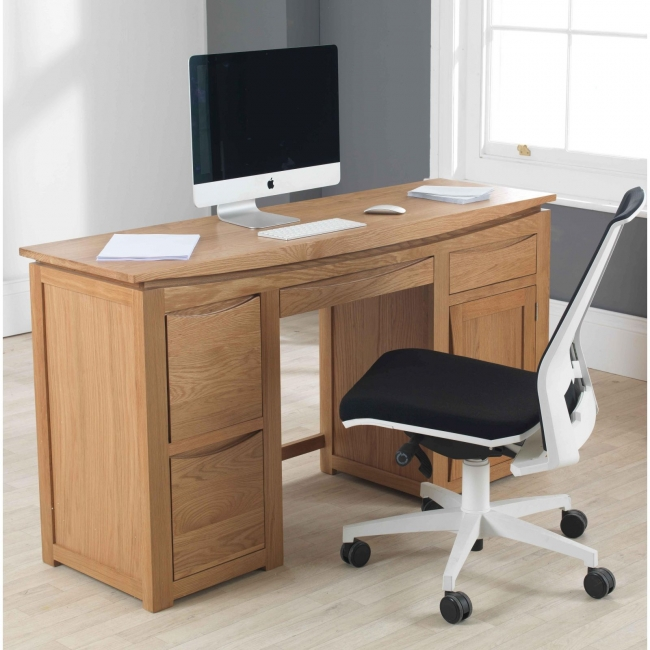 Transform Your Home Office With This Beautiful Solid Oak Computer Desk Has A Two Drawer Filing