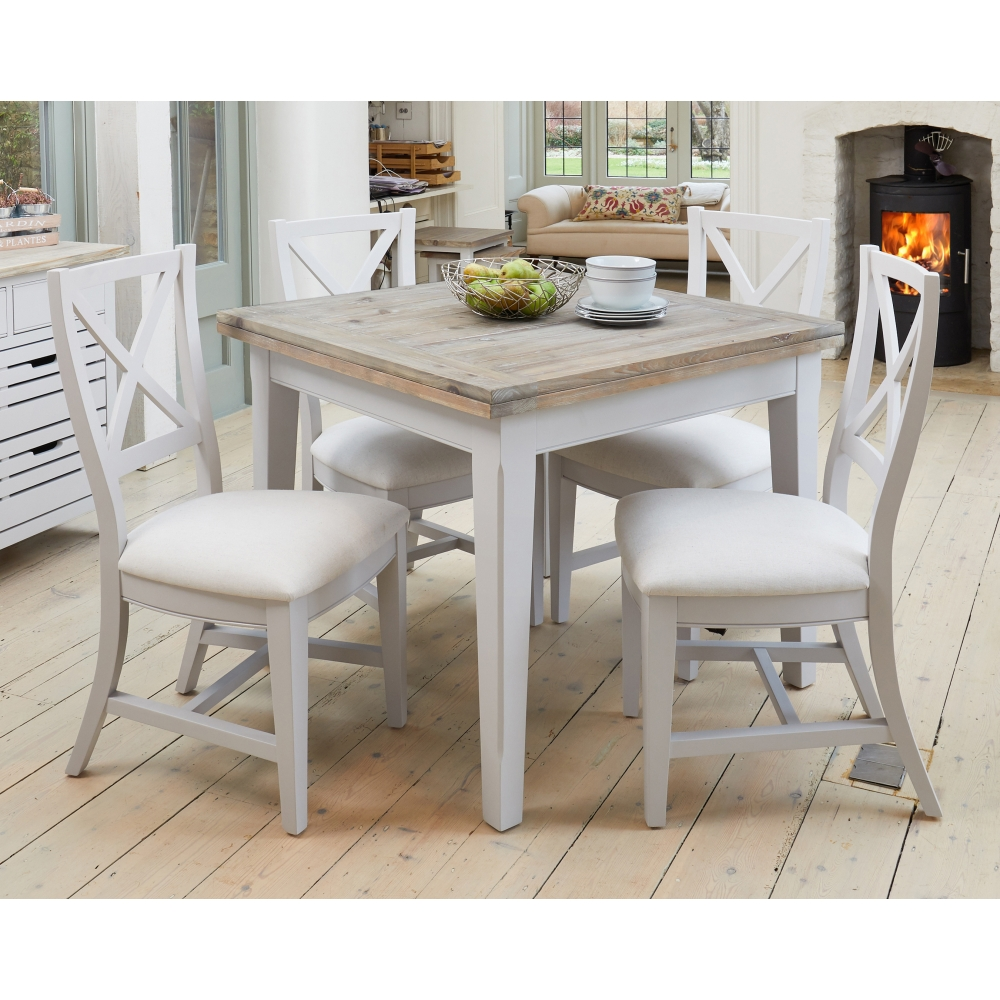 Signature Grey Painted Furniture Extending Dining Table ...