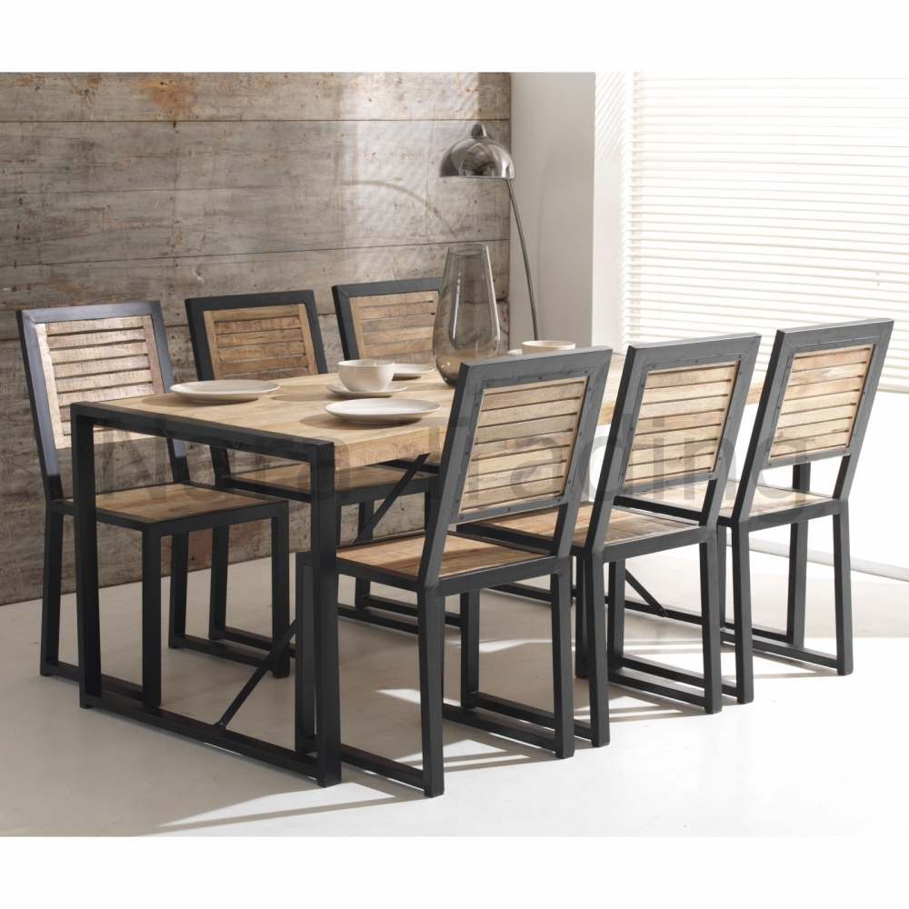 reclaimed wood and metal furniture. Harbour Indian Reclaimed Wood And Metal Furniture Set Of Eight Dining Chairs M