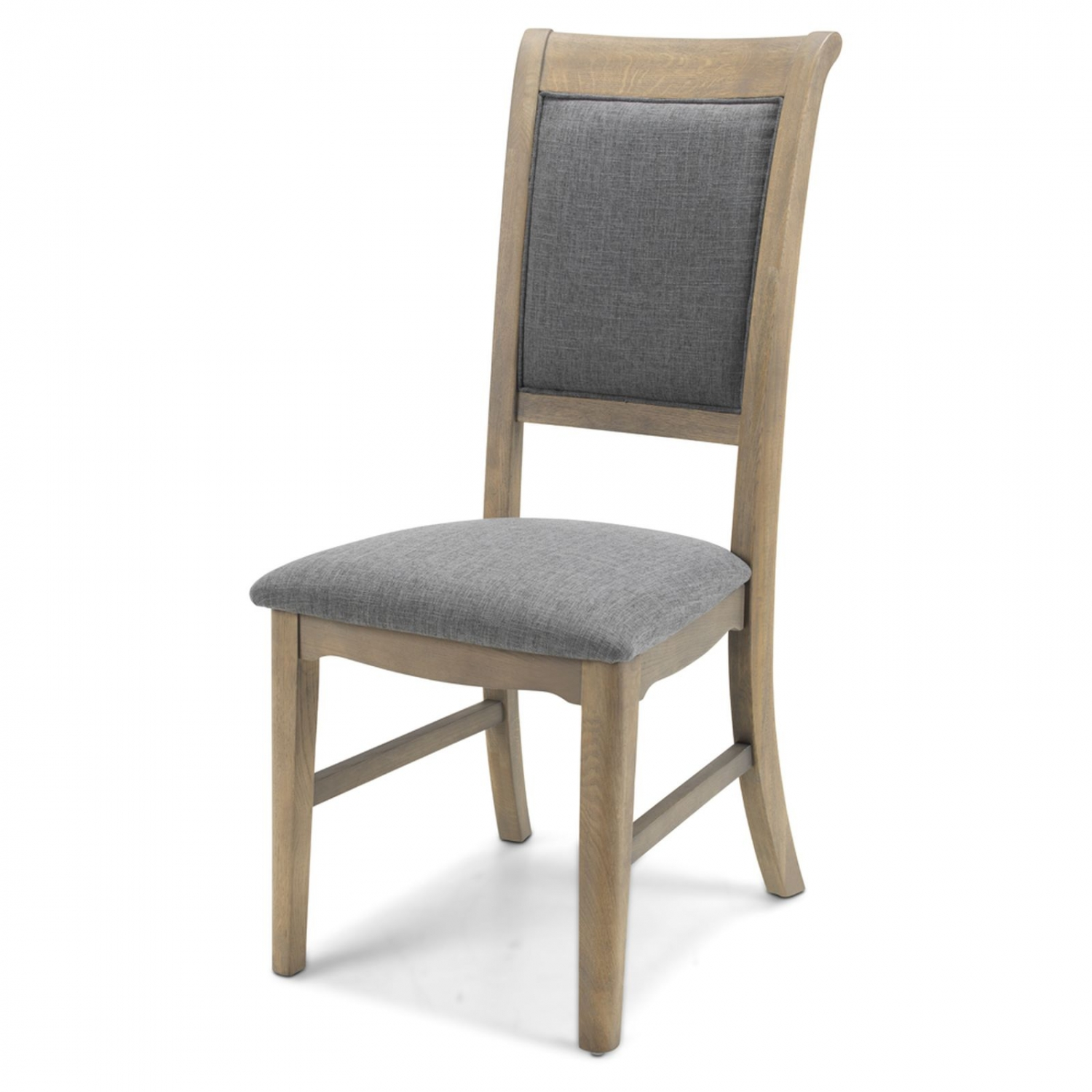Details about Welford Oak Furniture Grey Set of Two Upholstered Dining Room  Chairs