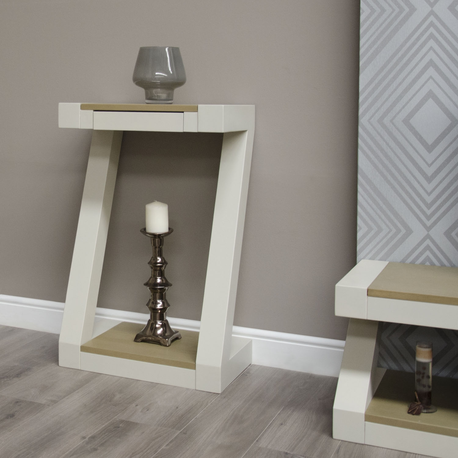 Z Oak Painted Hallway Furniture Small Hall Console Table Smoked