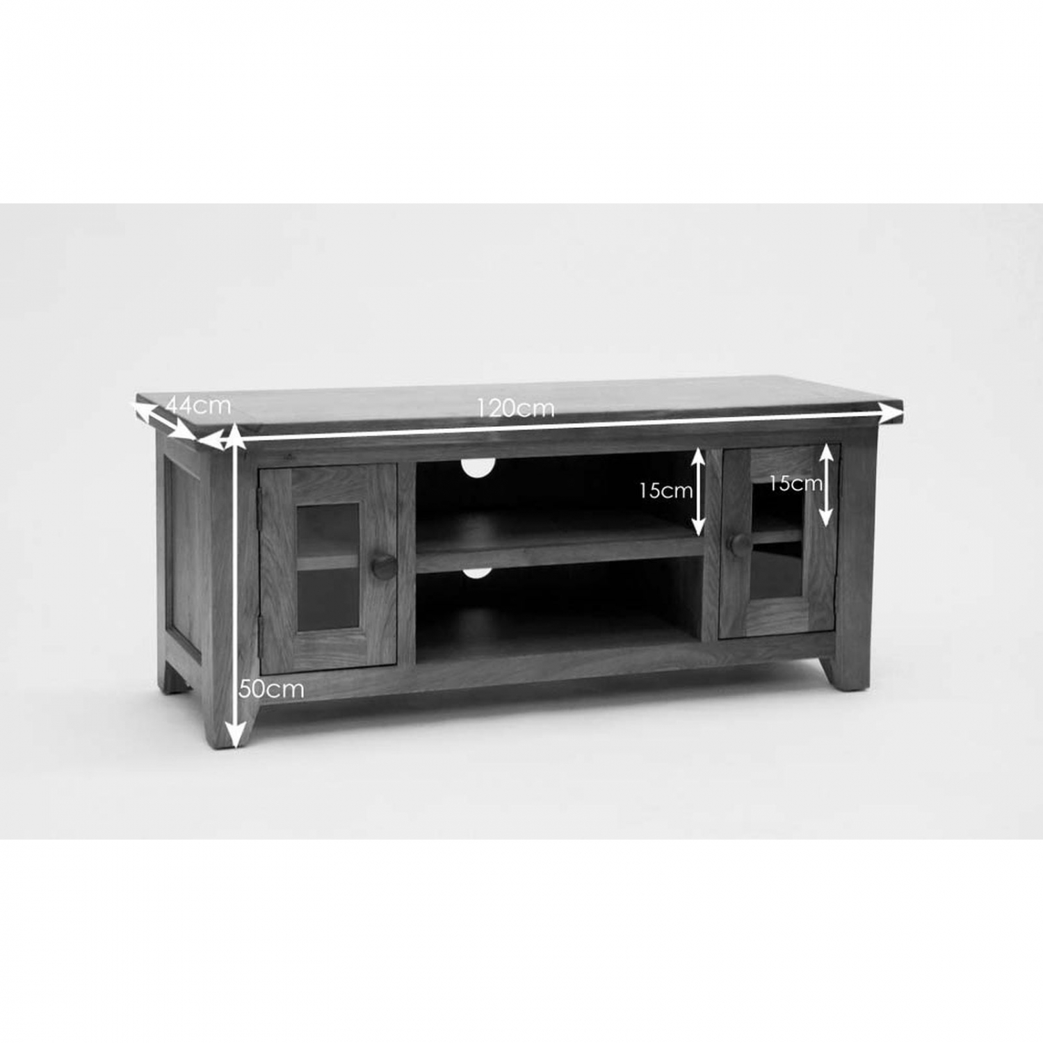 Balmoral Oak Furniture Large Tv Television Cabinet Stand Unit With