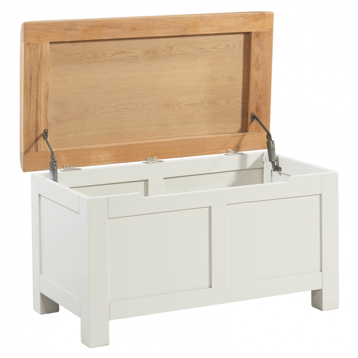 Randall Oak Painted Bedroom Storage Furniture Blanket Box Trunk