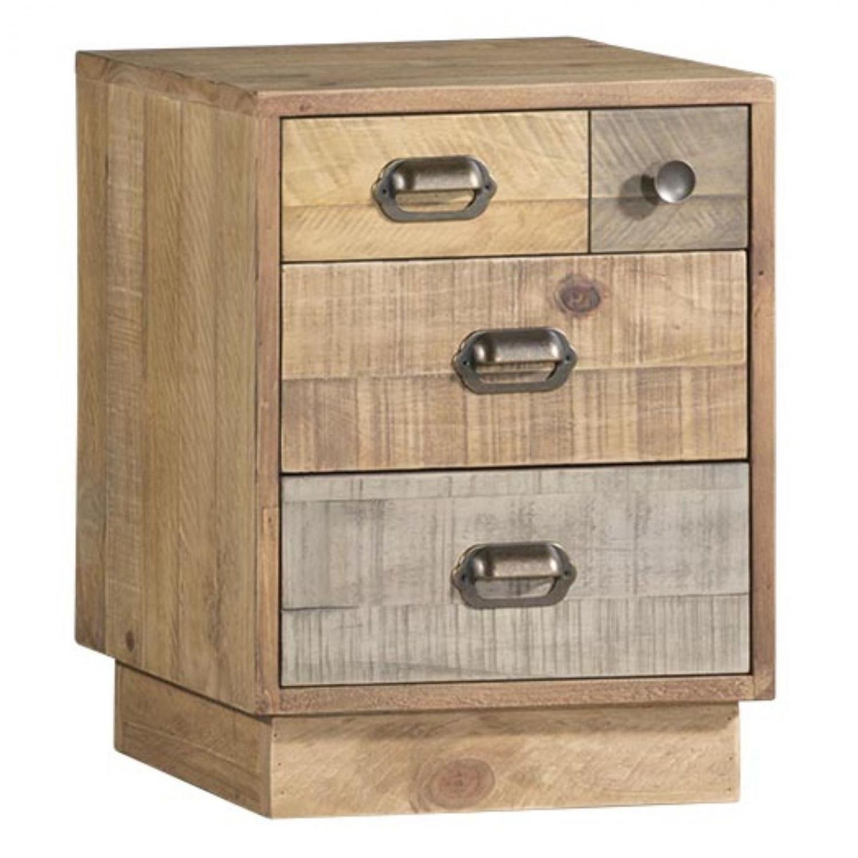 Details About Mordin Reclaimed Pine Bedroom Furniture Bedside Table Cabinet Unit With Plinth
