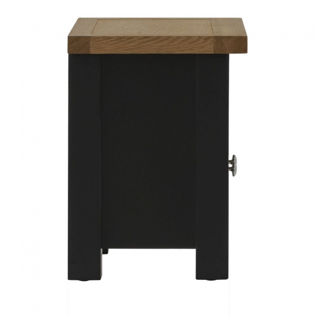 Kirkland Oak Compact Black Grey Painted Furniture Tv Cabinet Unit