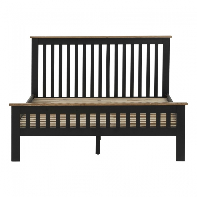 Excellent Details About Kirkland Oak Compact Black Grey Painted Furniture Double Bed Ncnpc Chair Design For Home Ncnpcorg
