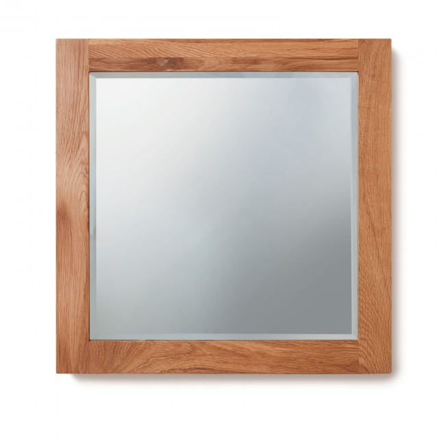Details About Mobel Solid Oak Bathroom Furniture Large Square Wall Mirror
