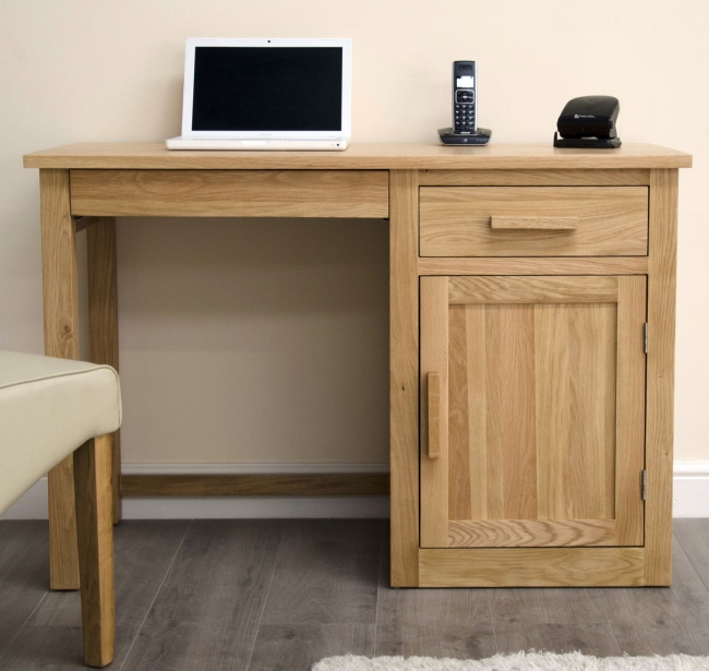 Arden Solid Oak Furniture Office Pc Small Computer Desk Workstation