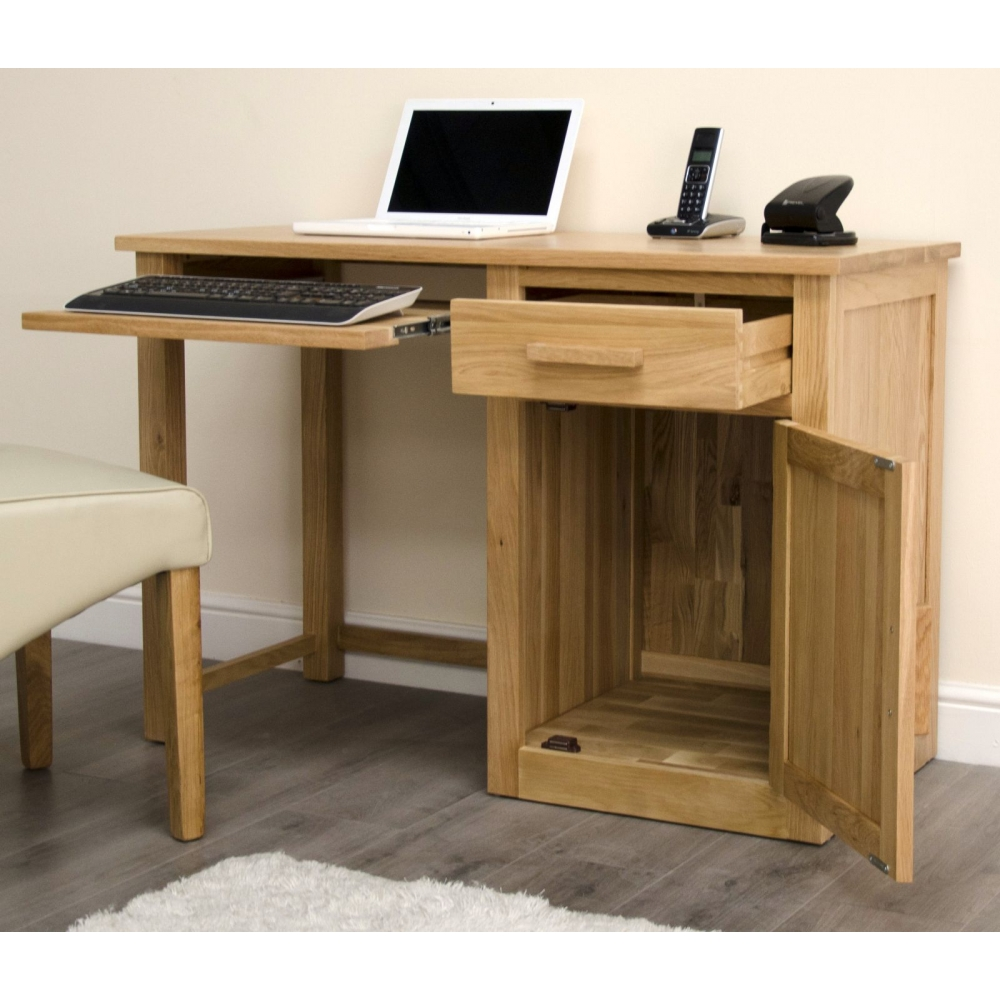 Arden Single Pedestal Office Pc Computer Desk Workstation Solid Oak Furniture