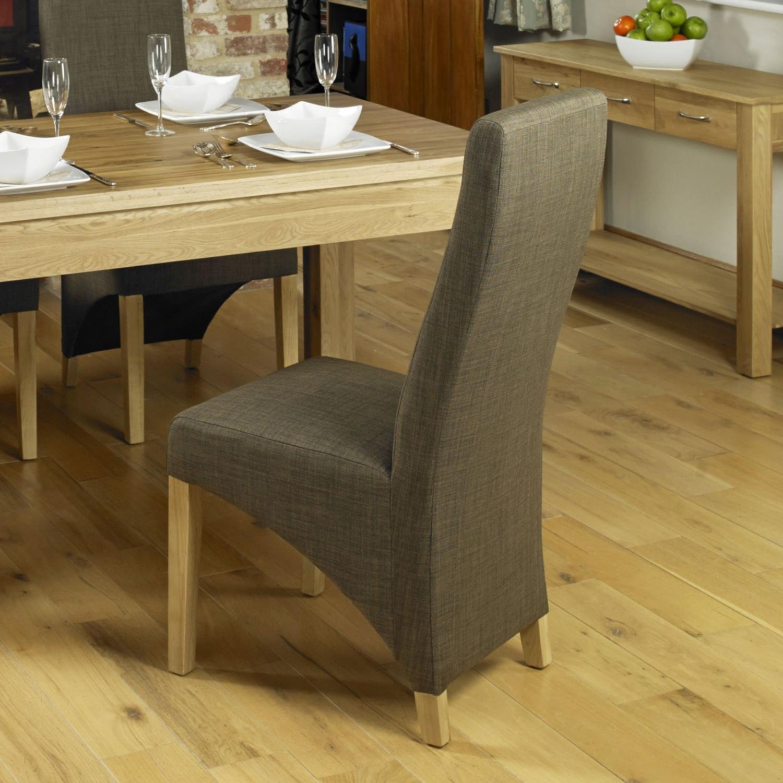Conran solid oak furniture set of six upholstered dining ...