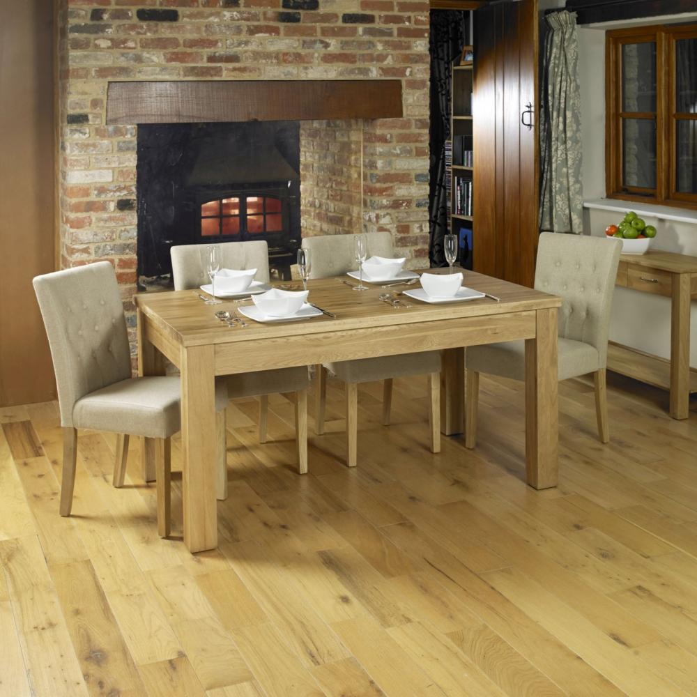 Solid Oak Dining Room Table: Mobel Solid Oak Furniture Large Extending Dining Room