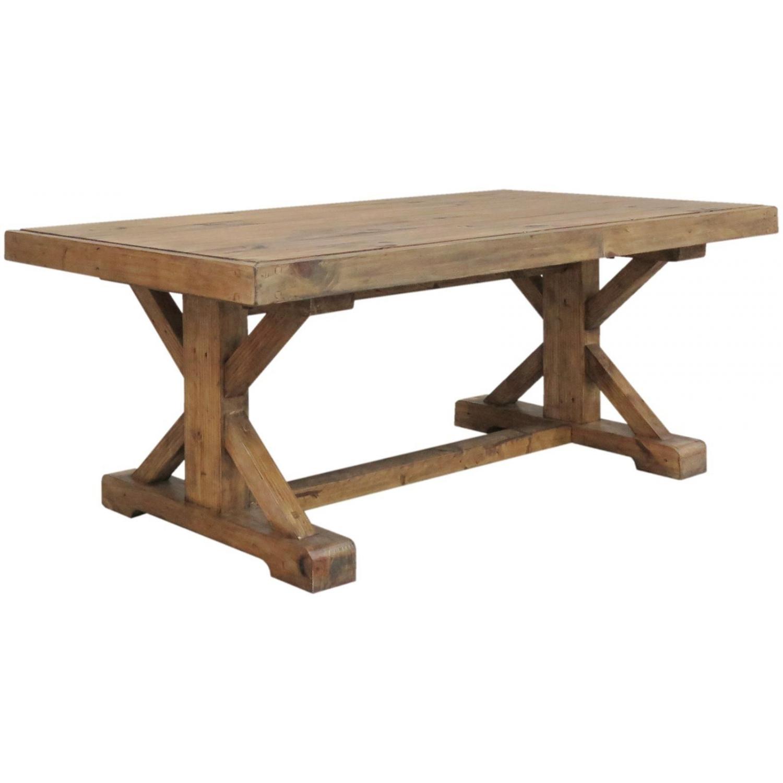 Ashton Reclaimed Pine Living Room Furniture Monastery Coffee Table - Ashton coffee table