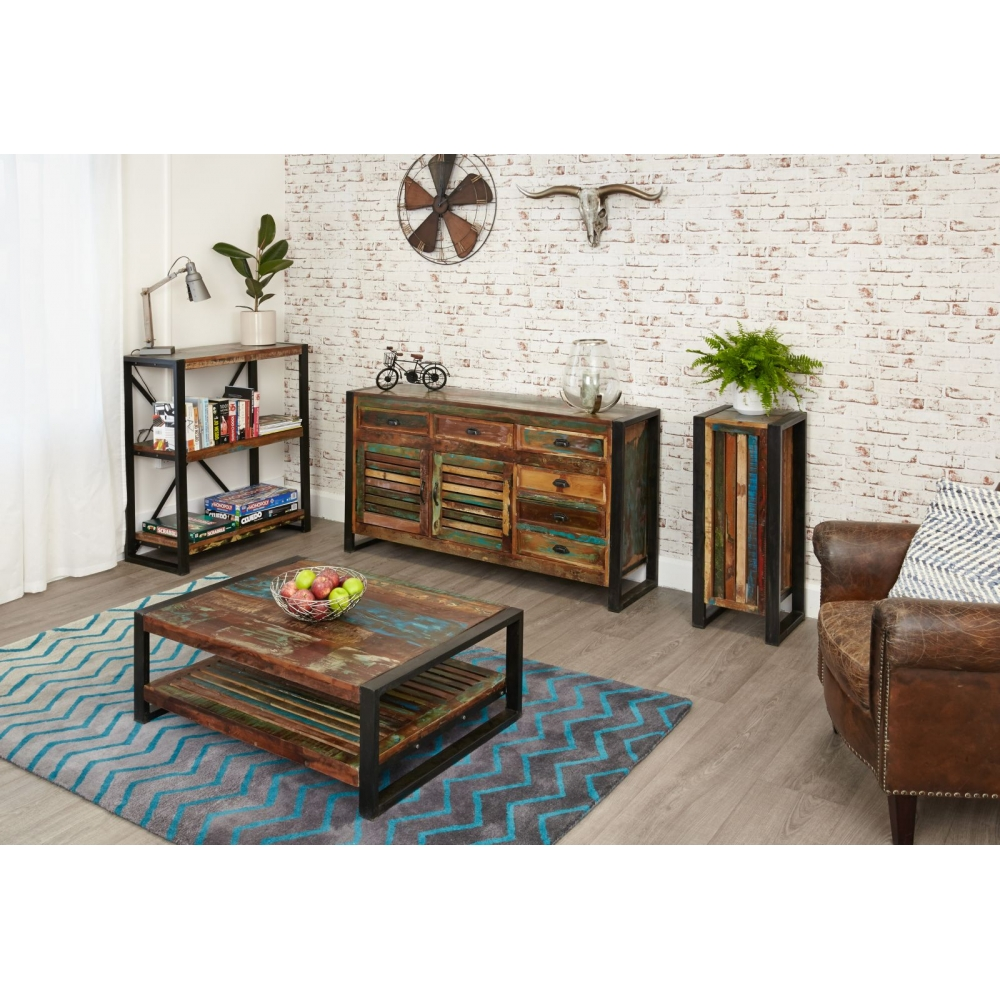Urban Chic Reclaimed Indian Wood Furniture Low Living Room