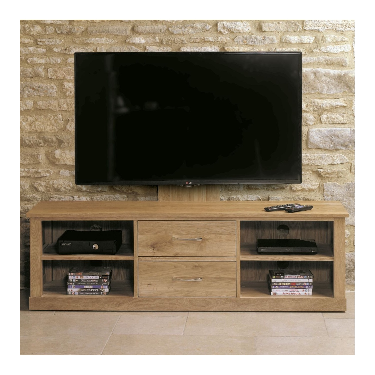 Details About Mobel Oak Living Room Furniture Wall Mounted Television Cabinet With Drawers