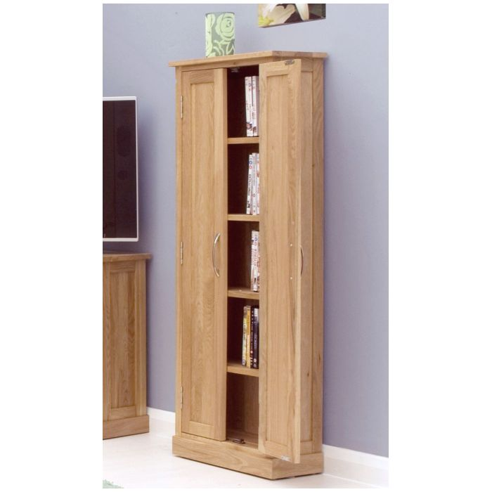 Mobel solid oak furniture CD DVD storage cupboard cabinet and felt ...