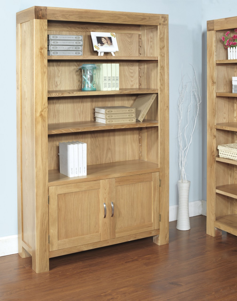 Wood Bookcases With Doors Hoot Judkins Furniture San