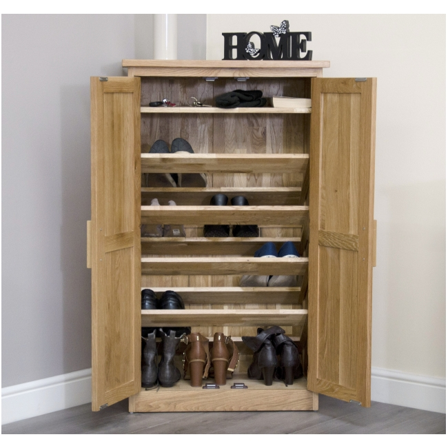 Arden Solid Oak Hallway Hall Furniture Shoe Storage Cabinet Cupboard Rack Ebay