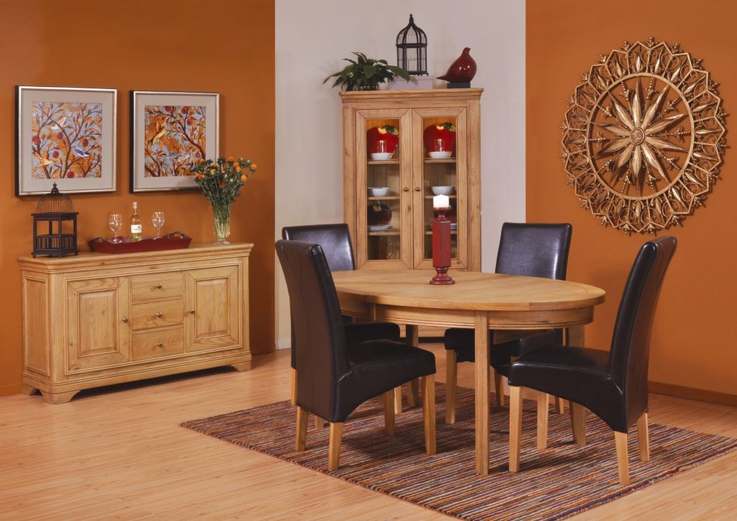 Linden Solid Oak Dining Room Furniture Large Cutlery China Dresser