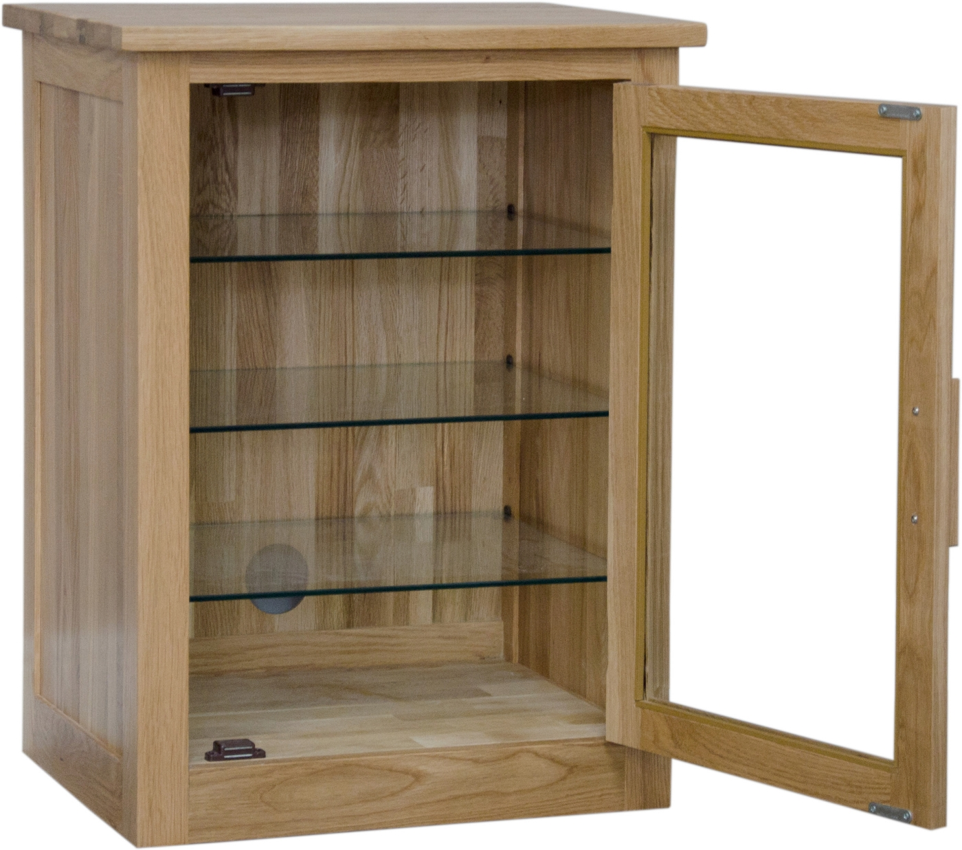 Small Glass Front Cabinet: Arden Solid Oak Furniture Hi-fi Stereo Storage Cabinet